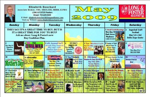 Calendar of Area Events
